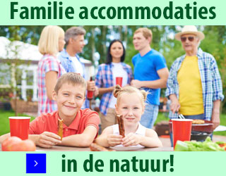 familie accommodaties in de natuur banner