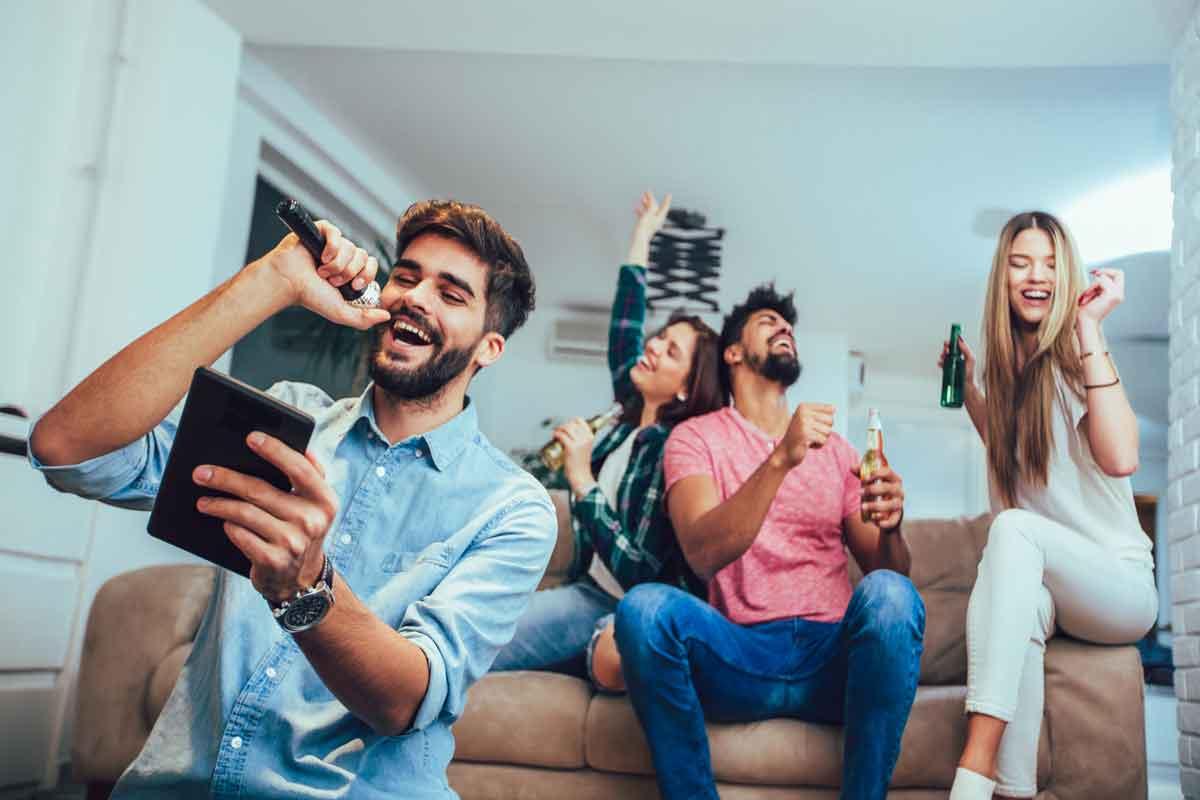 karaoke met vrienden